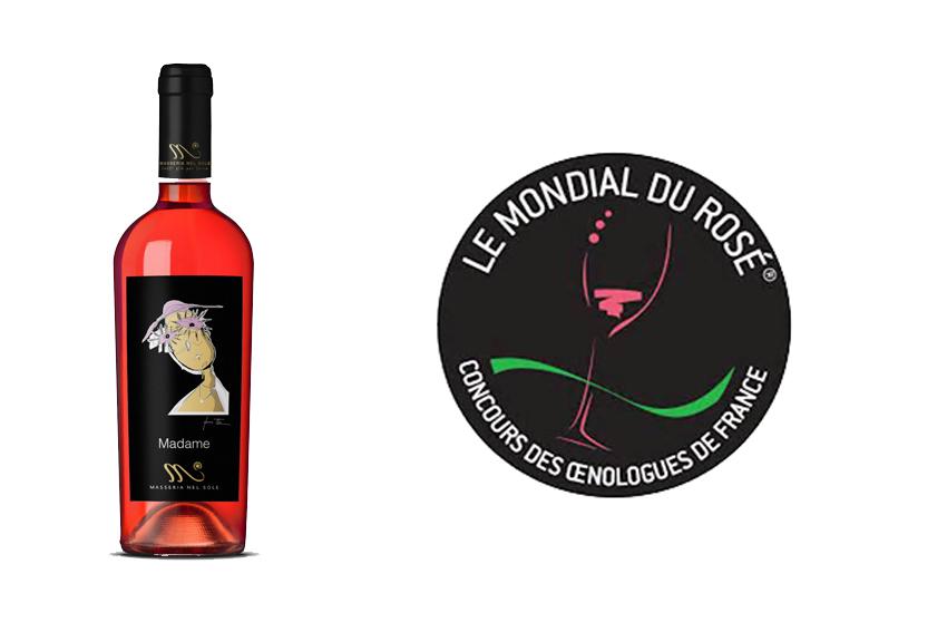 Madame medaglia d'argento al concorso per rosati Mondial du Rosè di Cannes 2017