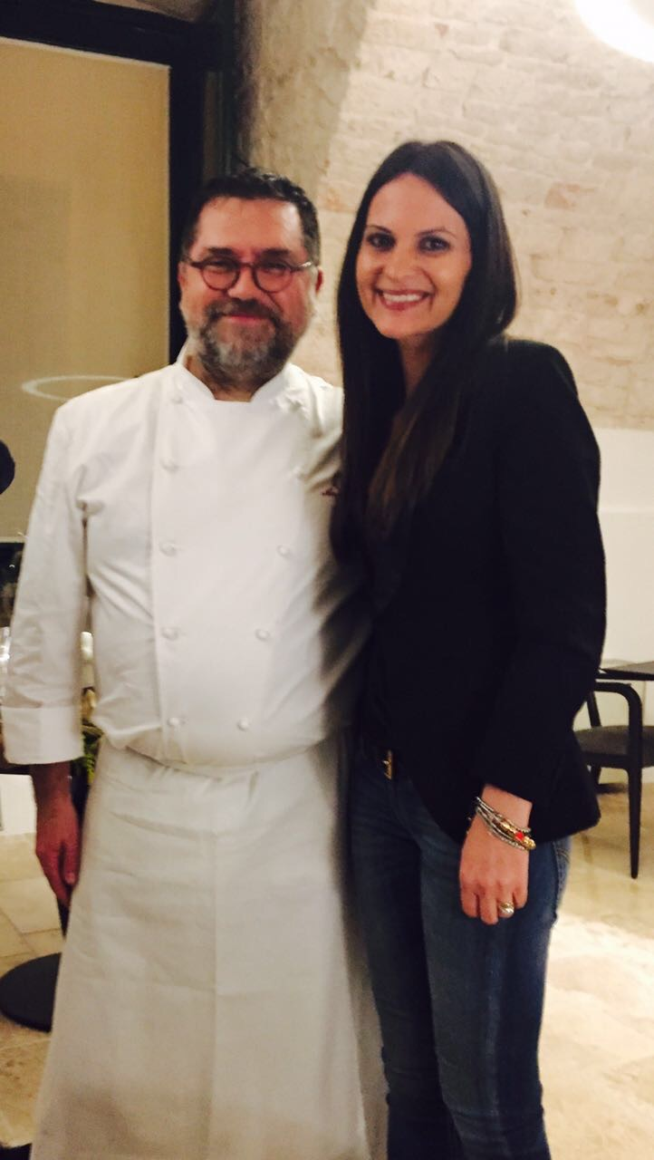Chef Angelo Sabatelli inaugura il nuovo ristorante e seleziona per l'evento il Pas Dose' Metodo classico Masseria nel Sole